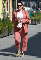 Kelly Brook Arriving at the Global Radio Studios in London