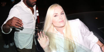 Lindsey Vonn And P.K. Subban at Catch LA in West Hollywood