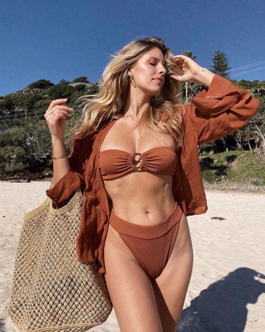 Natasha Oakley in Bikini at a Beach Instagram photos