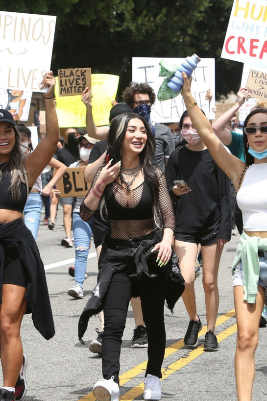 Nikita Dragun at Black Lives Matter Protest in Los Angeles