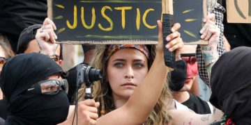 Paris Jackson joined a Black Lives Matter protest in LA
