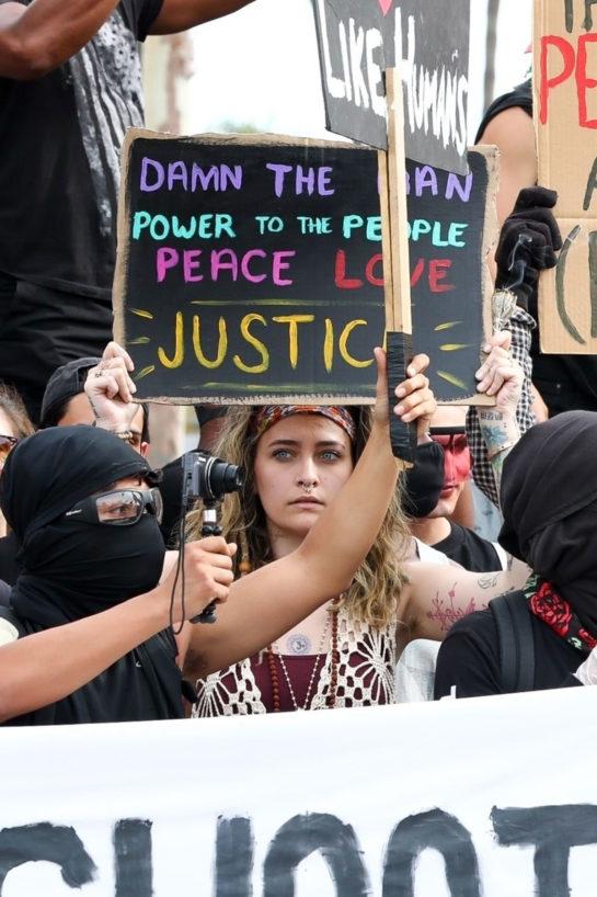 Paris Jackson joined a Black Lives Matter protest in LA