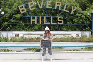 Phoebe Price Out Protesting in Beverly Hills