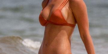 Rachel Cook In a Bikini On The Beach In Tulum, Mexico