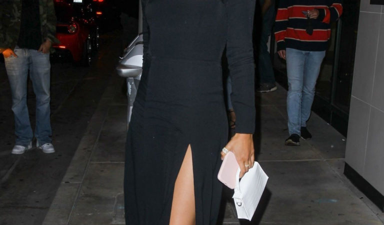 Celebrity Night Out –  Sara Sampaio leaving Catch LA in West Hollywood