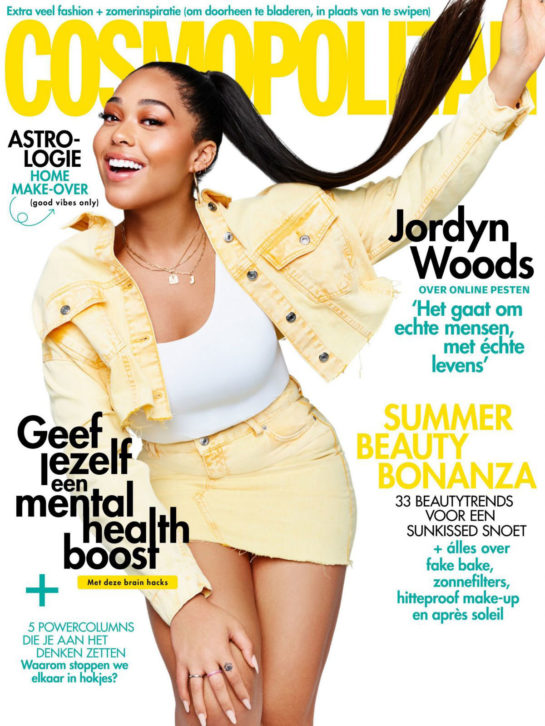 Jordyn Woods in Cosmopolitan Magazine, Netherlands July 2020