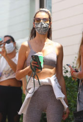 Alessandra Ambrosio Out for Lunch at Broad Street Oyster in Malibu