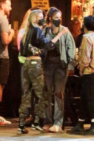 Barbara Palvin and Stella Maxwell Out with Dylan Sprouse and KJ Apa Night Out in Silverlake