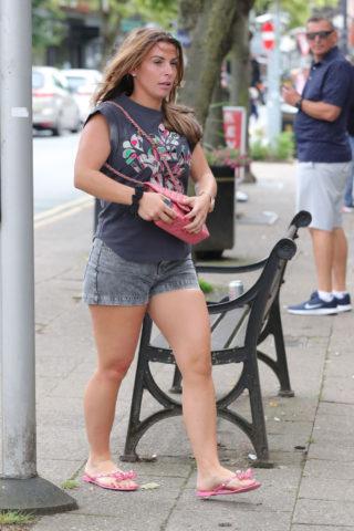 Coleen Rooney leaving an Alderley Edge Hair Salon