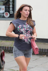Coleen Rooney leaving an Alderley Edge Hair Salon