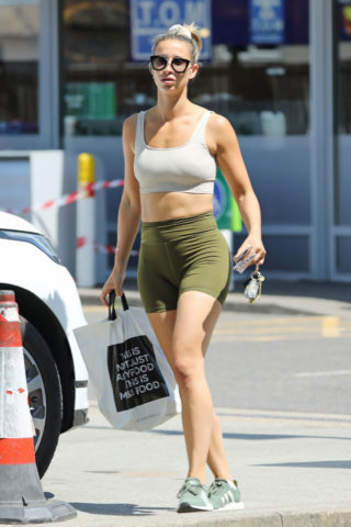 Ferne McCann Shopping at M&S Store in Essex