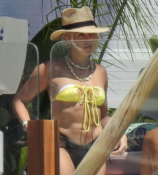 Gabby Allen in Bikini in Spain