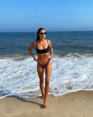 Nina Agdal in Bikini at a Beach Instagram Photos