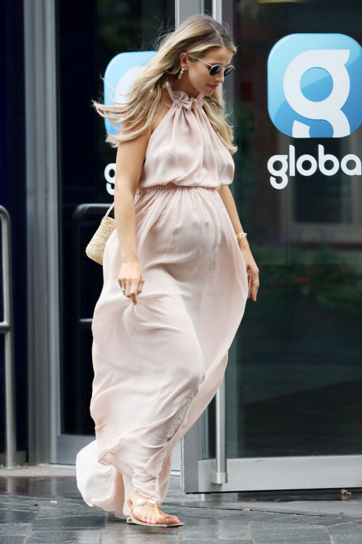 Pregnant Vogue Williams Leaves Heart Radio in London