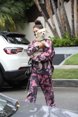 Vanessa Hudgens Out with her Dog in Beverly Hills