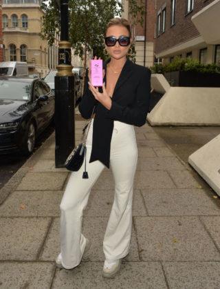 Georgia Harrison at Langham Hotel in London