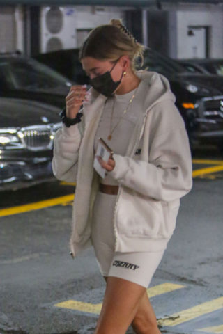 Hailey Bieber Leaves a Medical Office in Beverly Hills