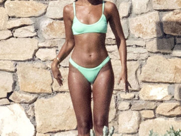 Leigh-Anne Pinnock in Bikini on Holidays in Mykonos