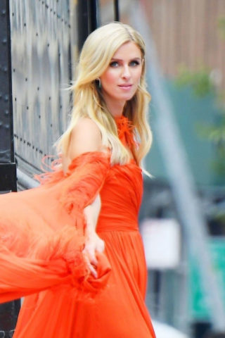 Nicky Hilton All in Red at a Photoshoot in New York