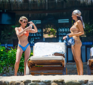 Nicky Whelan and Kate Neilson in Bikini on Vacation Together