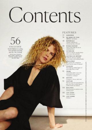 Nicole Kidman in Marie Claire Magazine, Australia November 2020