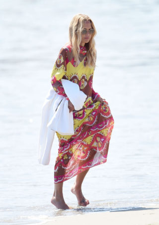 Rachel Zoe Walk on The Beach in Santa Barbara