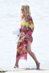 Rachel Zoe Walk on The Beach in Santa Barbara