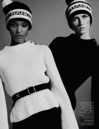 Rianne Van Rompaey and Malika Louback in Vogue Magazine, France October 2020