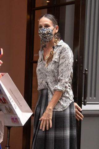 Sarah Jessica Parker at Her Shoe Store in New York