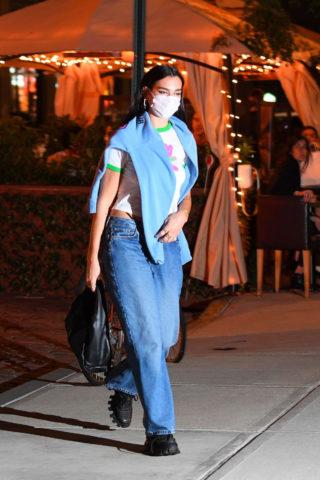 Dua Lipa Arrives at Her Apartment in New York