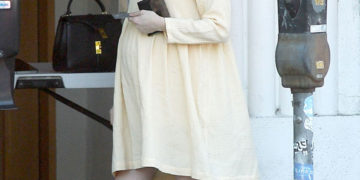 Pregnant Emma Roberts Out for Coffee in Los Angeles