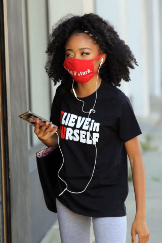 Skai Jackson Heading to DWTS Rehearsal in Los Angeles