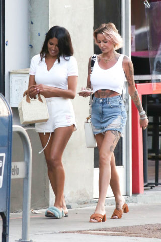 Tina Louise and CJ Franco Out in West Hollywood