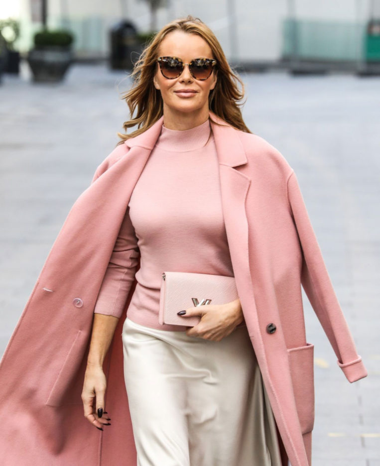 Amanda Holden arriving at Global Radio in London