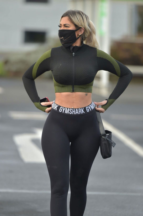 Chloe Ferry in Tights Out Shopping in Newcastle