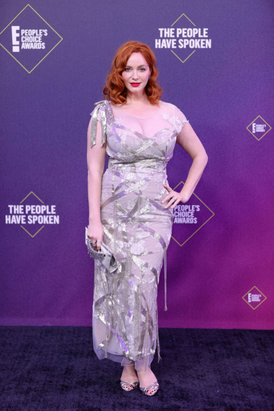 Christina Hendricks at 2020 E! People's Choice Awards in Santa Monica