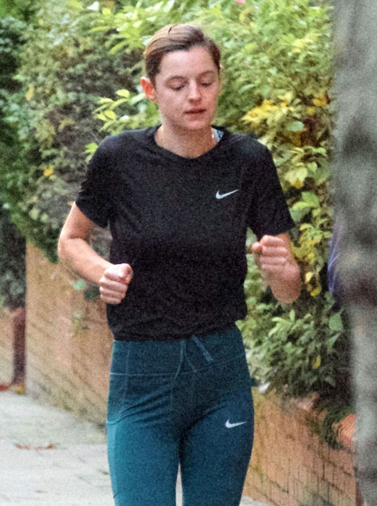 Emma Corrin Out Jogging with a Friend in London