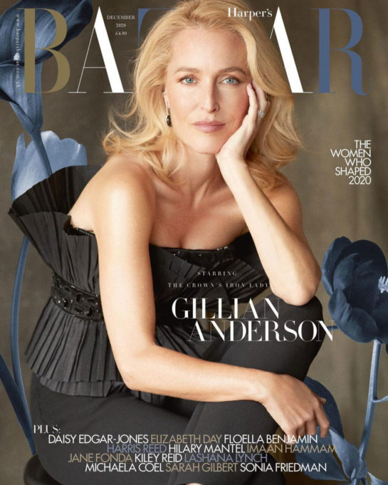 Gillian Anderson in Harper's Bazaar Magazine, UK December 2020