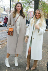 Hilary Duff and Sutton Foster on the Set of Younger in New York
