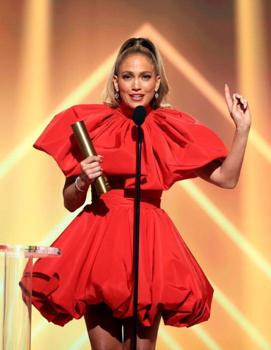 Jennifer Lopez at 2020 E! People's Choice Awards in Santa Monica