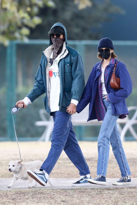 Kaia Gerber and Jacob Elordi Out with Their Dog in Los Angeles