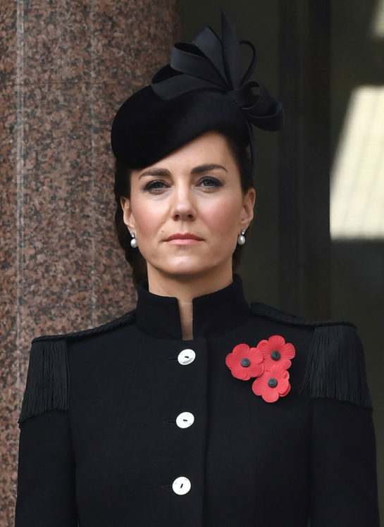 Kate Middleton at Remembrance Sunday Service at Cenotaph in London