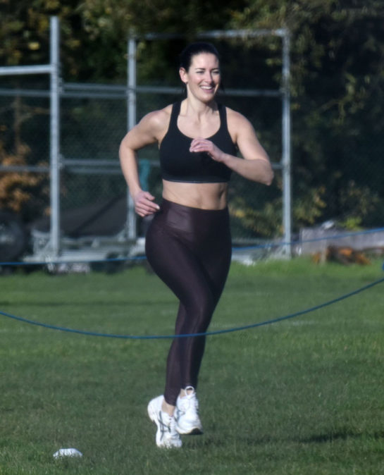 Kirsty Gallacher Workout in Richmond