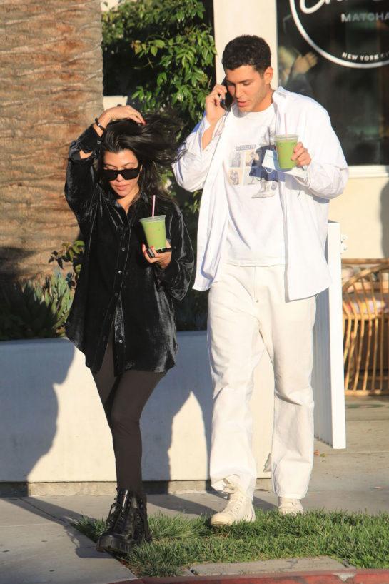 Kourtney Kardashian and Fai Khadra Out in LA