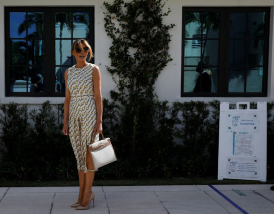 Melania Trump at Morton and Barbara Mandel Recreation Center Polling Place in Palm Beach