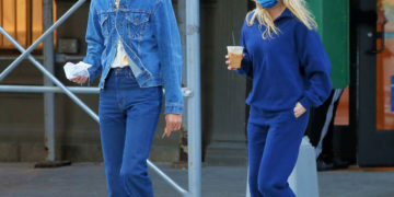Pregnant Elsa Hosk and Tom Daly Out for Coffee in NYC
