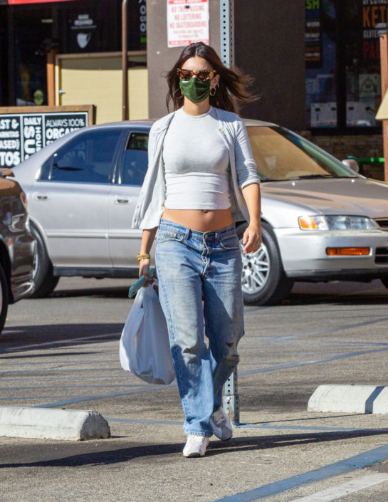 Pregnant Emily Ratajkowski Out Shopping with a Friend in LA