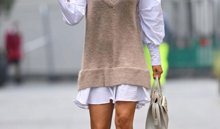 Street Style – Ashley Roberts Leaves Heart FM Studio in London