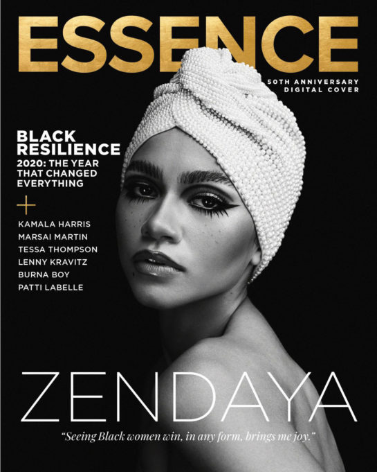 Zendaya in Essence Magazine, November/December 2020