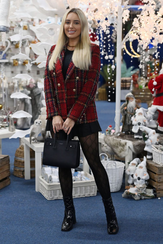 Amber Turner on the Set of TOWIE Christmas Special
